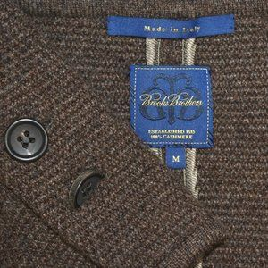 Brooks Brothers 100% CASHMERE Italy Brown BLAZER